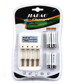 Digital Power Charger with 4pcs 600mAh Rechargeable Batteries