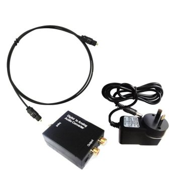 Digital Toslink Optical SPDIF Coaxial to Analog RCA Audio Converter Adapter