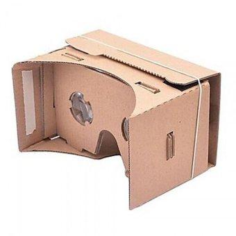 DIY Google Cardboard VR Mobile Phone 3D Viewing Glasses Brown - picture 2