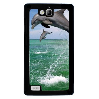 Dophin Pattern Phone Case for Huawei Honor 3C (Black)