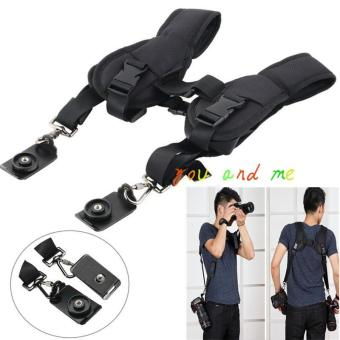 Double machine SLR camera shoulder strap