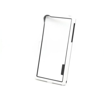 Dual-color Soft TPU Frame Bumper Case Cover for Sony Xperia Z2(White) - intl Price Philippines