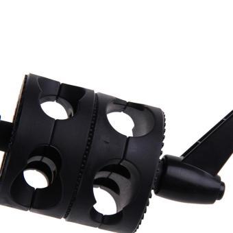 Dual Head Grip Swivel Head Holder Bracket for Studio flash Reflector Boom (Intl) - 3