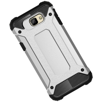 Dual Layer Case for Samsung Galaxy J7 Prime / On7 2016 Hybrid TPUPC Heavy Duty Armor Shock Absorbing Protective Cover Black (Black) - 4