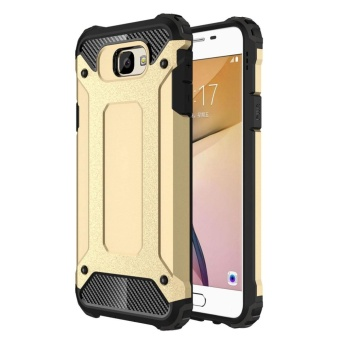 Dual Layer Case for Samsung Galaxy J7 Prime / On7 2016 Hybrid TPUPC Heavy Duty Armor Shock Absorbing Protective Cover Gold Price Philippines