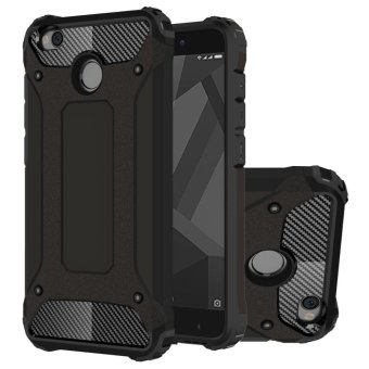 Dual Layer Case For Xiaomi Redmi 4X Hybrid TPU PC Heavy Duty Armor Shock Absorbing Protective Cover Black - intl
