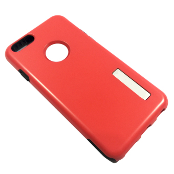 Dual Layer Hard Hybrid Silicone Armor Case for Apple iPhone 6G - Red