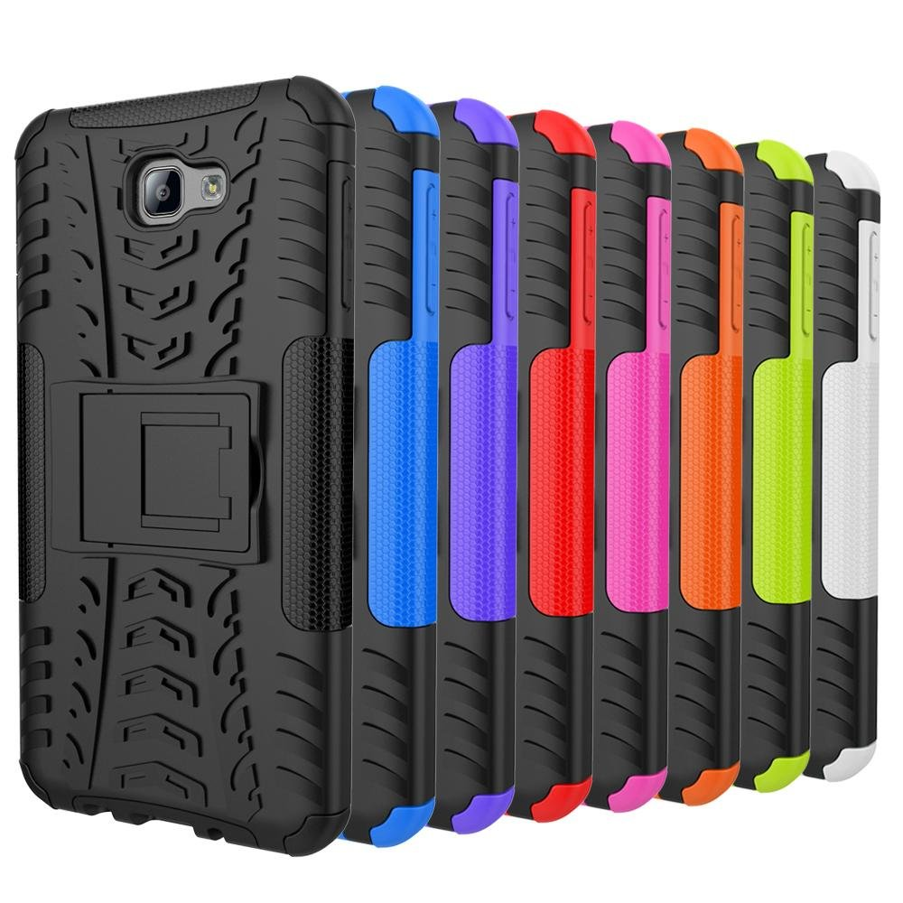 Dual Layer Shock-Absorption Armor Cover Full-body Protective Casewith Kickstand Combo PC+ .