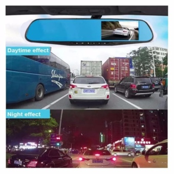 Dual Lens Ultrathin 4.0 Inch Car Rearview Mirror Data Recorder1080P