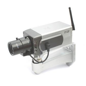 Dummy CCTV Camera Motion Detection Sensor Motorized Pan MovementBlinking LED - intl - 5