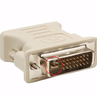 DVI-I 24+5 Dual Link Male to VGA Female 15 Pin Video ConnectorAdapter Converter