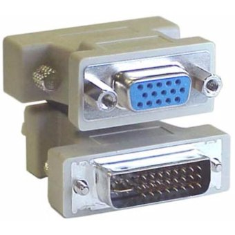 DVI-I 24+5 Male to VGA female Adapter