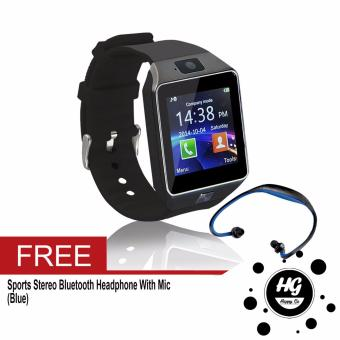 DZ-09 Smartwatch (Black) Free (Blue Sport Stereo WirelessBluetooth)