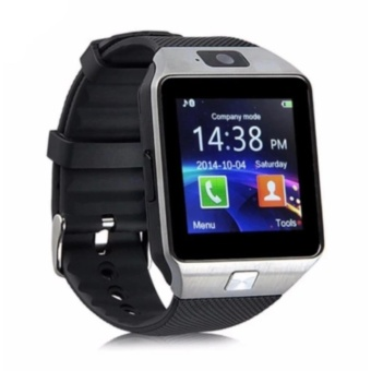 DZ09 Quad Bluetooth Touch Screen Smart Watch (Silver)