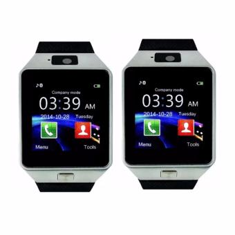 DZ09 Quad Phone Bluetooth Touch Screen Smart Watch (Silver)SET OF 2