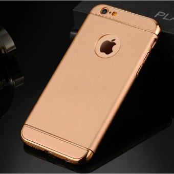 E-leen Luxury PC Three Section Plating Mobile Phone Case for Apple iPhone 6 Plus/6s Plus - intl