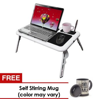 E-Table Laptop Cooler Stand with FREE Self-Stirring Mug(Color MayVary)
