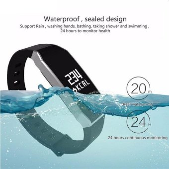 E02 Wristband Heart Rate Monitor Smart Watch Blood Pressure BloodOxygen Tracker Sports Reminder Smart Bracelet For IOS And Android -intl