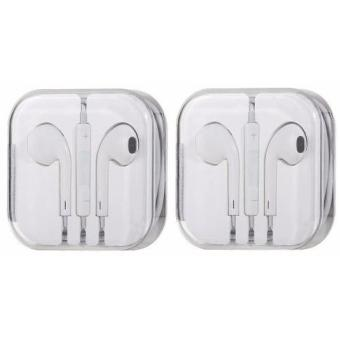 Earphone Headphone 3.5mm Headset W/Mic For Apple iPhone iPad iPodTouch Set Of 2
