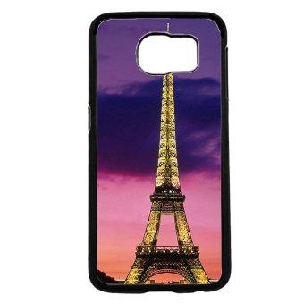 Eiffel Tower Pattern Phone Case For Samsung Galaxy S6 (Black)