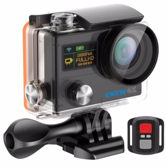 EKEN H8SE 4K 30FPS Ultra HD Dual Screen Wi-Fi Waterproof Action Sports Camera with 2.4G Remote Control (Black)