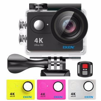 EKEN H9Rse Ultra HD 4K Wi-Fi Waterproof Sports Action Camera &2.4G Splash proof Remote Shutter (Black) with 3 Pieces EKEN H9Front Skin Covers (Multi-Color) Price Philippines