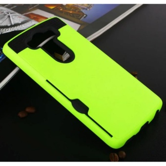 Elaike Case For LG V10 Armor Metal Silicon TPU +Hard PC ShockproofCard Slot Case Cover (Green) - intl