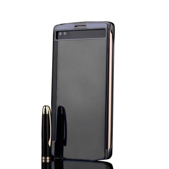 Elaike Case For LG V10 Clear View Mirror Flip PC Hard Leather PhoneCase (Black) - intl