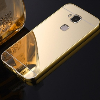 Elaike For Huawei G8 2 in 1 Luxury Aluminum Metal Mirror PC PhoneCover Case (Gold) - intl