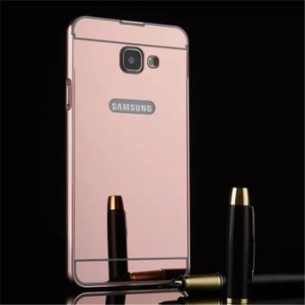 Philippines | Elaike For Samsung A7 2016 2 in 1 Luxury Aluminum Metal Mirror PCPhone Cover Case (Rose Gold) - intl The Best Cheap