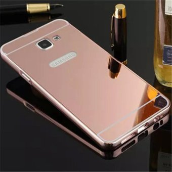 Elaike For Samsung J5 Prime 2 in 1 Luxury Aluminum Metal Mirror PCPhone Cover Case (Rose Gold) - intl