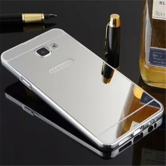 Elaike For Samsung J5 Prime 2 in 1 Luxury Aluminum Metal Mirror PCPhone Cover Case (Silver) - intl