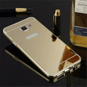 Elaike For Samsung J7 Prime 2 in 1 Luxury Aluminum Metal Mirror PCPhone Cover Case (Gold) - intl
