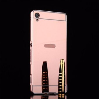 Elaike For Sony Xperia XA Ultra 2 in 1 Luxury Aluminum Metal MirrorPC Phone Cover Case (Rose Gold) - intl