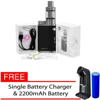 Eleaf iStick Pico 75W Starter Kit Vape E-Cigarette (Black) WithFree Single Battery Charger/ 2200mAh Battery