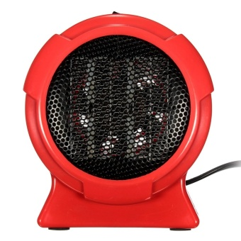 Electric Mini Fan Space Heater Heating 200W Winter Warmer Home Office Desktop Red (Color:As First Picture) - intl