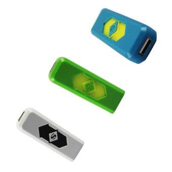 Electronic Lighter (Blue/Green/White) Set of 3