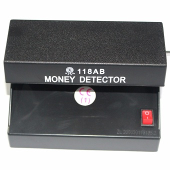 Electronic UV Light Money Detector Bill Currency Authenticity Checker (Black)