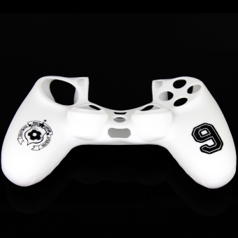 Elenxs Protective Lanyard Silicone Skin Case Cover Grip for Sony PS4 White