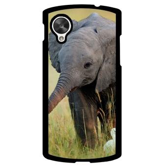 Elephant Cute Pattern Phone Case for LG Nexus 5 (Multicolor)