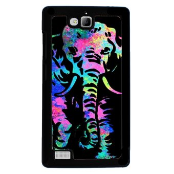 Elephant Pattern Phone Case for Huawei Honor 3C (Black)