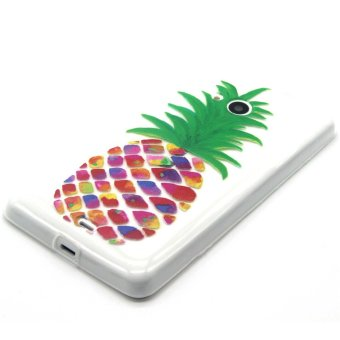 Embossed TPU Shell Case for Microsoft Lumia 535 / 535 Dual SIM -Colorful Pineapple
