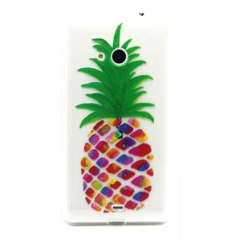 Embossed TPU Shell Case for Microsoft Lumia 535 / 535 Dual SIM -Colorful Pineapple - 4