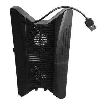 ERA Vertical Stand Type Game Disc Storage Holder USB Charging StandFor PS4 PRO black - intl - 2