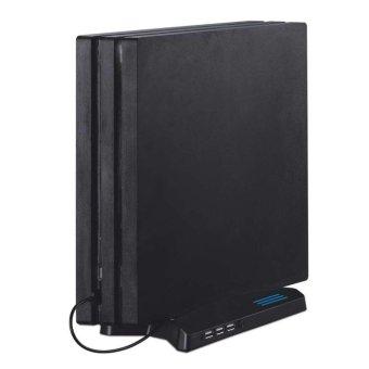 ERA Vertical Stand Type Game Disc Storage Holder USB Charging StandFor PS4 PRO black - intl - 4