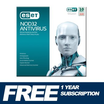 ESET NOD32 AntiVirus for 1 Year 1 Computer