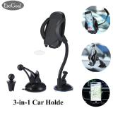 EsoGoal Car Mount Holder 3-in-1 Air Vent Phone Holder Cradle Dashboard Windshield Universal for iPhone Android and More Devices - intl