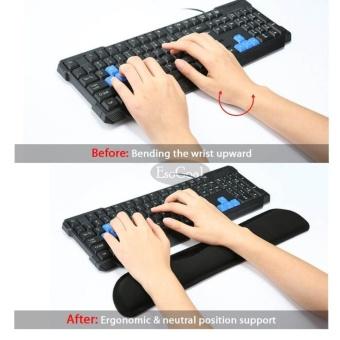 EsoGoal Keyboard Wrist Rest Pad Ergonomic Support for Computer PC Laptop (Black) - intl - 2
