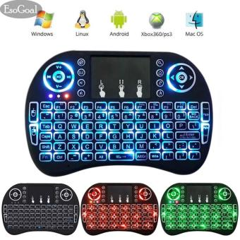 EsoGoal Mini Wireless Touchpad Keyboard Bluetooth Backlit Mouse Gaming Mice Touch Pad for Android TV, PC, Mac - intl