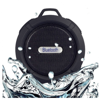 ET-C6 Sport Shockproof Waterproof Bluetooth HiFi Outdoor Speaker (Black)